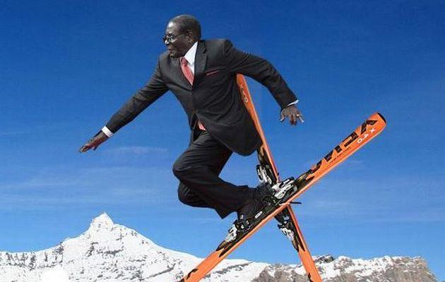 mugabe+skiing